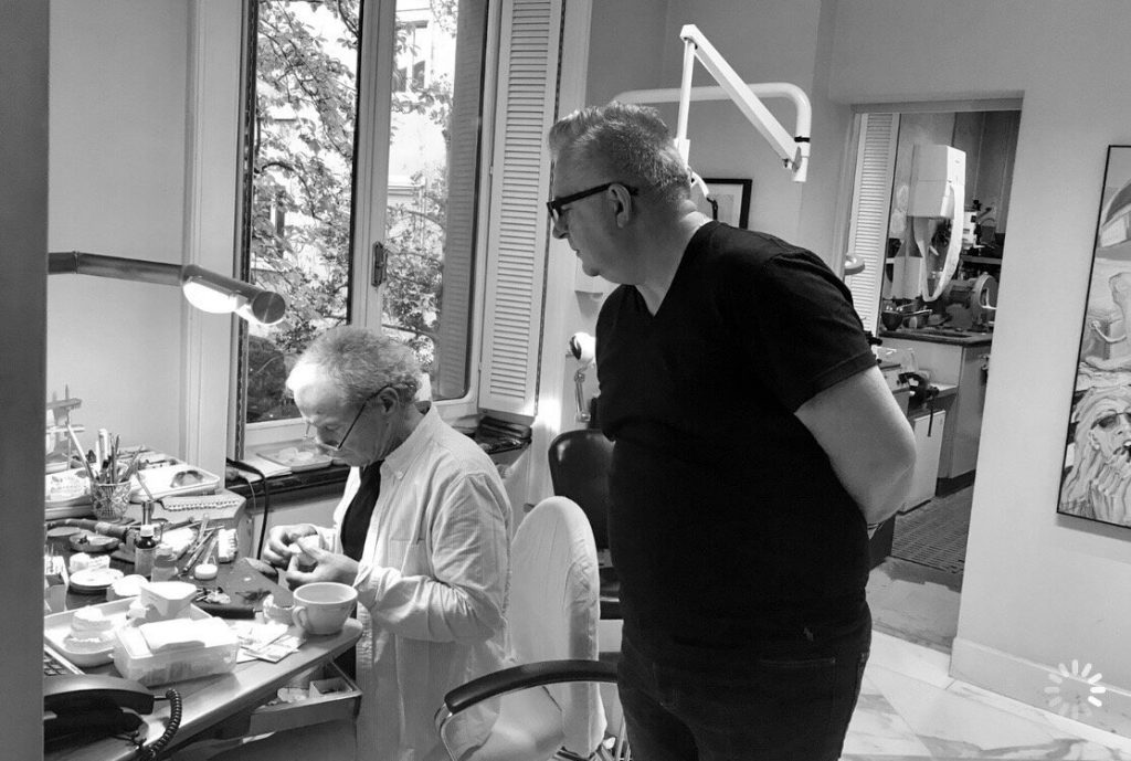 our professionals creating a patient's new smile in the lab