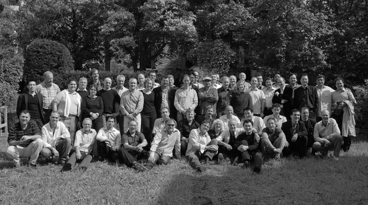 black and white group picture